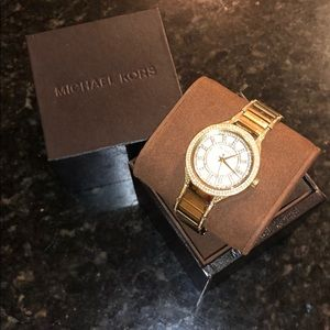 Michael Kors Gold Tone Kerry Mother of Pearl Watch